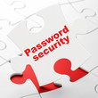 Security concept: Password Security on puzzle background