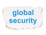 Security concept: Global Security on Paper background