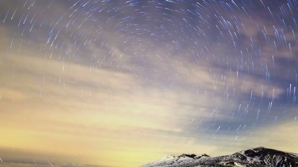 Stars leave traces. Time Lapse