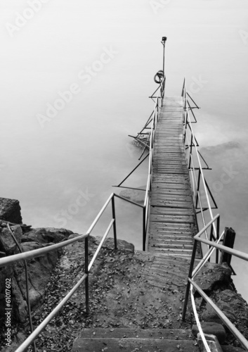 Wooden Jetty and seascape - 61017602
