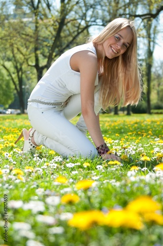 Enjoying life - smiling young woman
