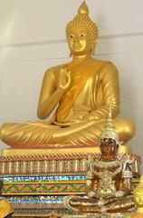 Buddha statue.Gold.Buddhism