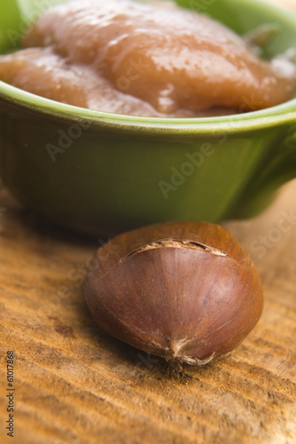 Chestnuts cream with chestnuts
