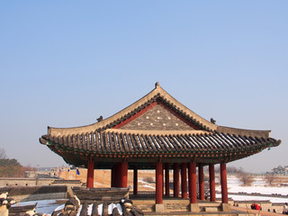 Dongjangdae of Hwaseong Fortress in Suwon, South Korea