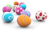 multi colored easter eggs