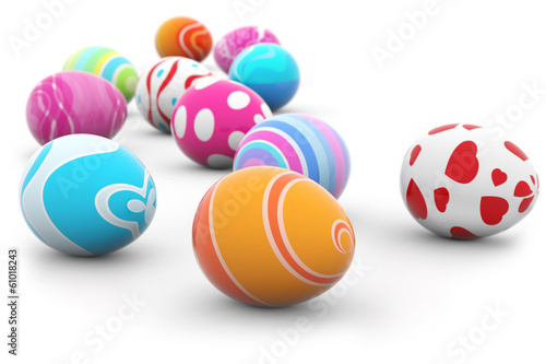 Foto op Plexiglas Egg multi colored easter eggs