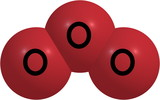 Ozone (O3) molecular structure isolated on white poster