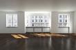 leere Büroräume in 3D