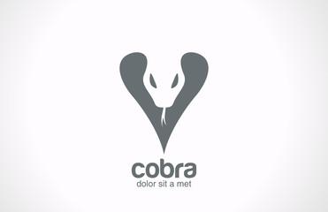 Logo Cobra snake silhouette vector icon design. Wild reptile
