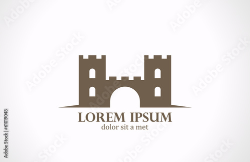 Logo Castle abstract vector icon design. Real Estate concept