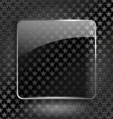 Abstract black background with glass element/frame