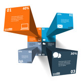 Modern 3d infographics for web, banners, mobile applications, la