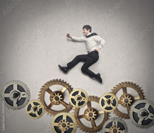 jumping on cogs