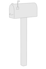 cartoon image of mail box