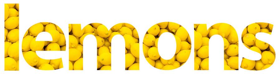 Lemons Fruits Background Word Concept