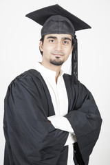 Portrait of a young asian graduate
