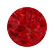 Red polygonal sphere