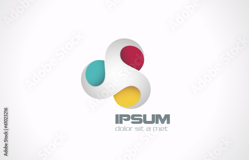 Logo infinite loop design element & business card template
