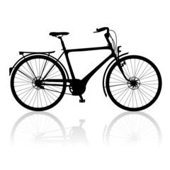 Fahrrad Vektor Silhouette