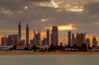 Tall towers of Sheikh Zayed Road in Dubai, UAE
