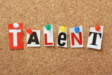 The word Talent on a Cork Notice Board