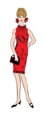 Fashion dressed woman (1950's 1960's style) Retro girl