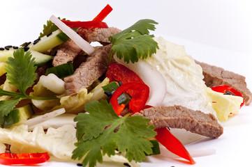 meat wiht vegetables
