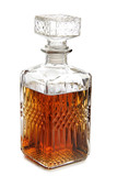 Glass decanter of whiskey