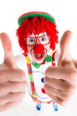 lustiger clown gratuliert