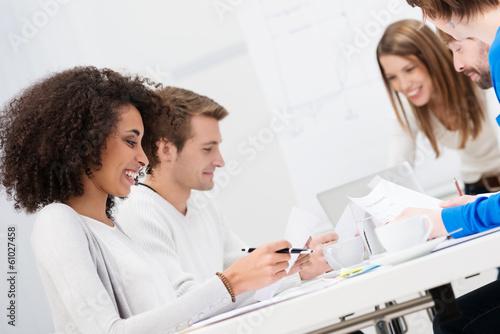 gruppe in einem seminar
