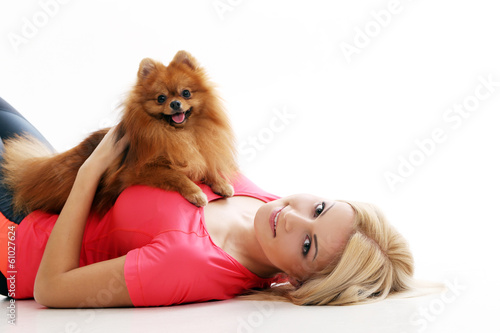 Cute girl with a dog