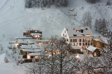 Luxurious ski resort