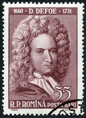 ROMANIA - 1960: shows Daniel Defoe (1660-1731)