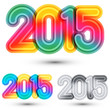 Happy new year 2015, typographic illustration