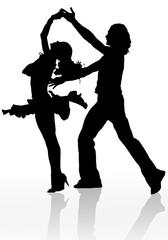 danse salsa sur fond blanc