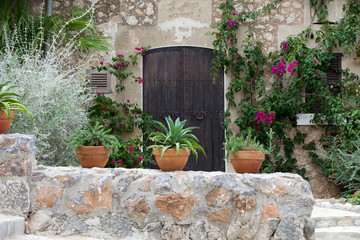 street in spanish village Valldemossa, Mallorca