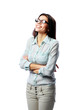 businesswoman with arms folded standing