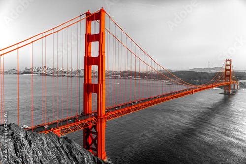 Poster Golden Gate, San Francisco, California, USA.