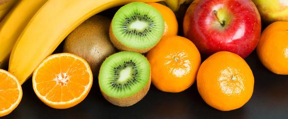 Healthy fresh fruit background