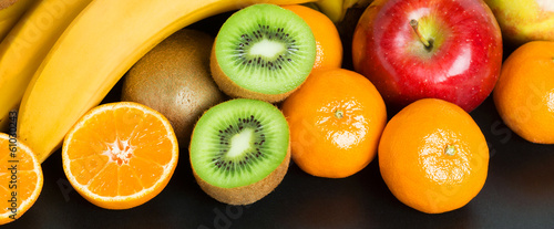 Healthy fresh fruit background