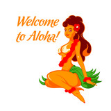 Cheerful Aloha girl