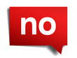 no red 3d realistic paper speech bubble on white