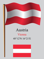 austria wavy flag and coordinates