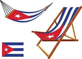 cuba hammock and deck chair set