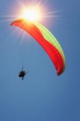 paragliding blue