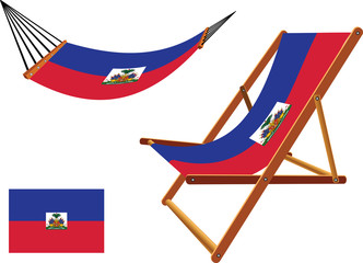 haiti hammock and deck chair set