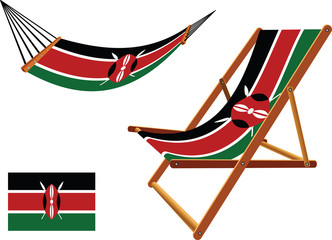 kenya hammock and deck chair set