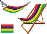 mauritius hammock and deck chair set
