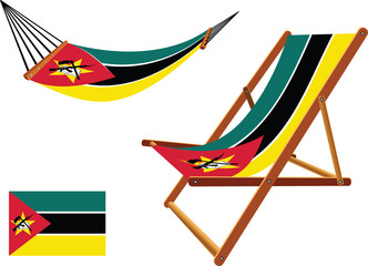 mozambique hammock and deck chair set