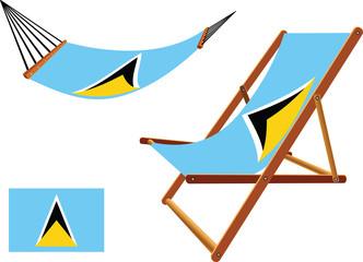saint lucia hammock and deck chair set